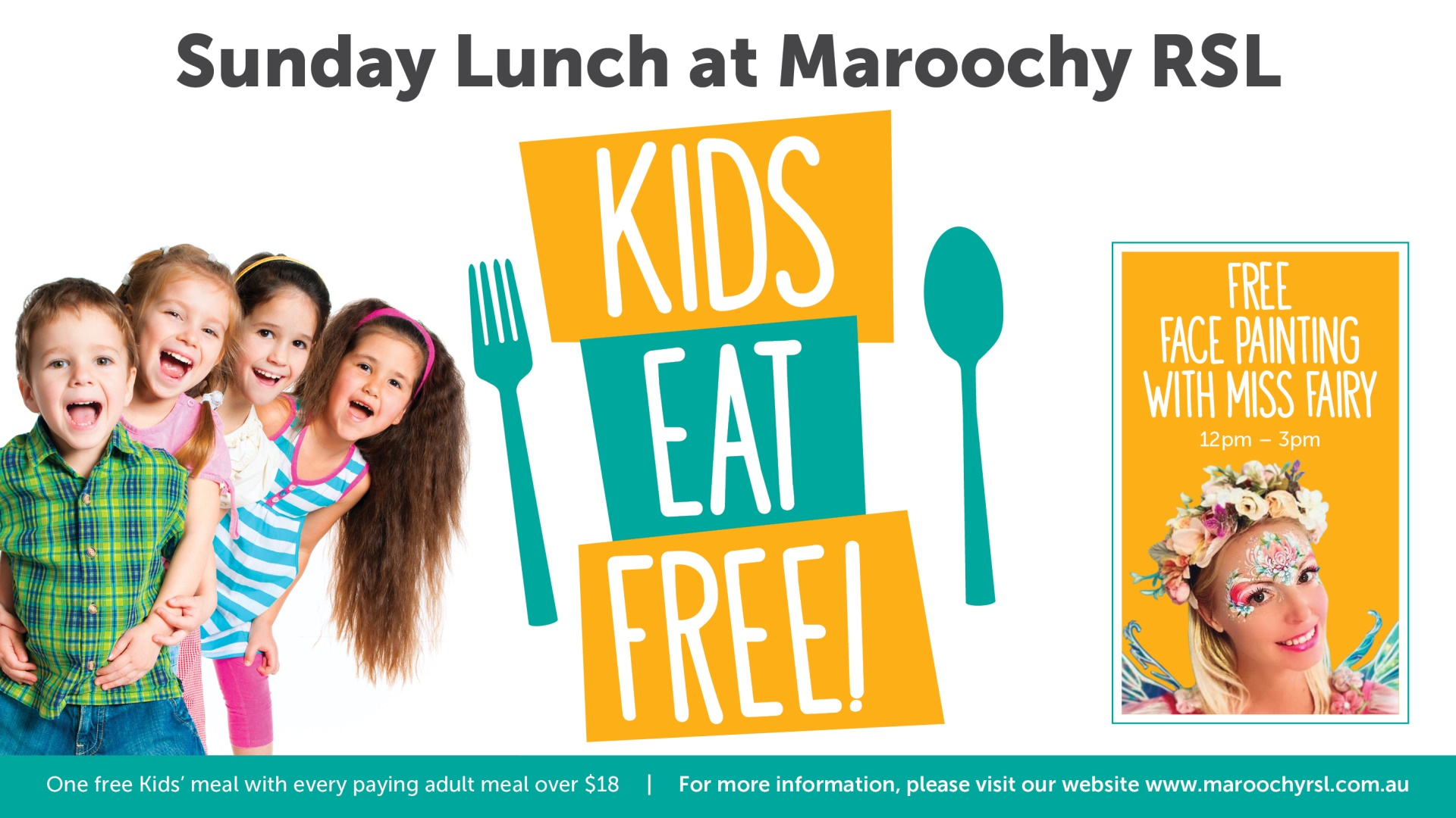 Kids Eat Free & Free Face Painting