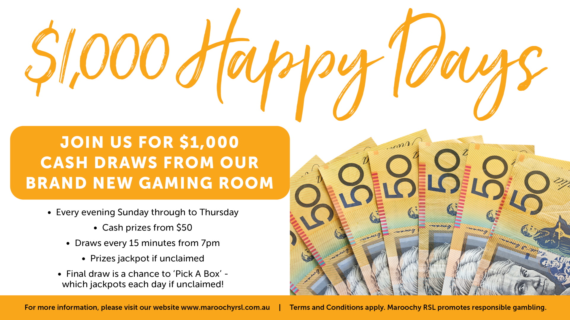 $1,000 Happy Days