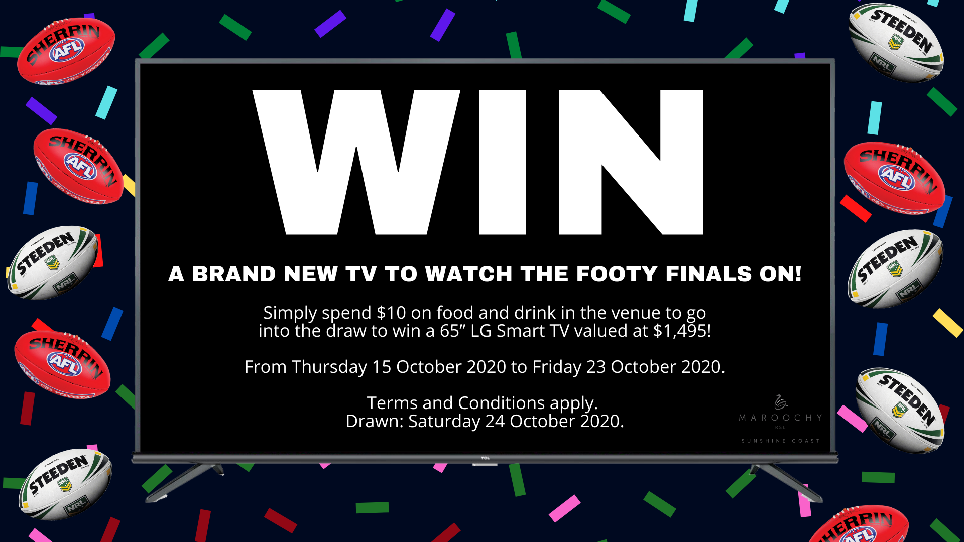 WIN a brand new TV to watch the footy finals on!